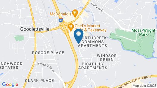Courtyard by Marriott Nashville Goodlettsville Map