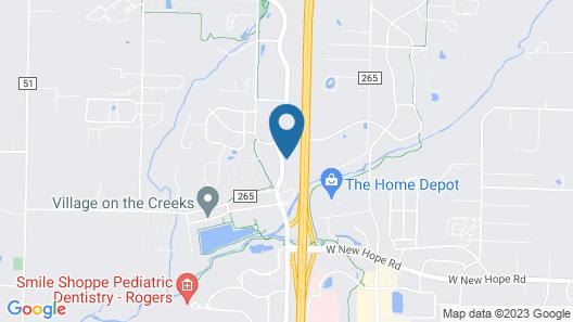 Aloft Rogers - Bentonville Map