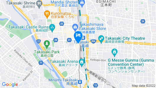 Apa Hotel Takasaki-Ekimae Map