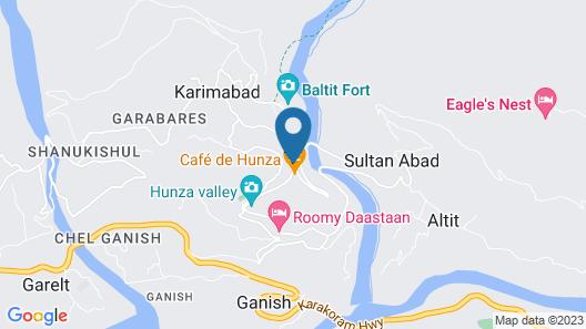 Al Barakaat Hotel Hunza Map