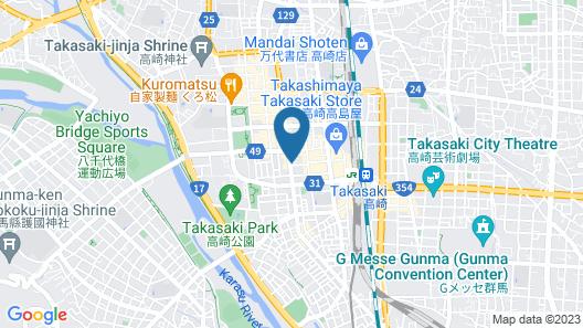 Dormy Inn Takasaki Natural Hot Spring Map