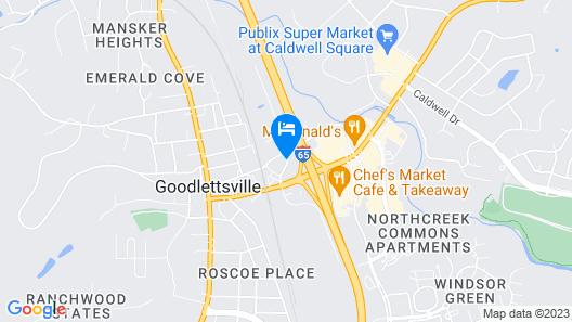 Motel 6 Goodlettsville, TN - Nashville Map