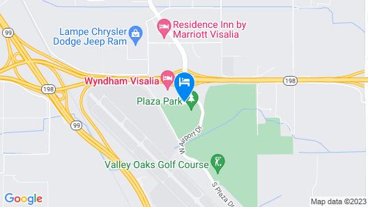 Wyndham Visalia Map