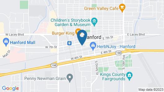 Rodeway Inn Downtown Hanford Map