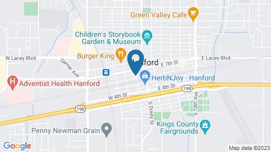 Comfort Inn Hanford Lemoore Map