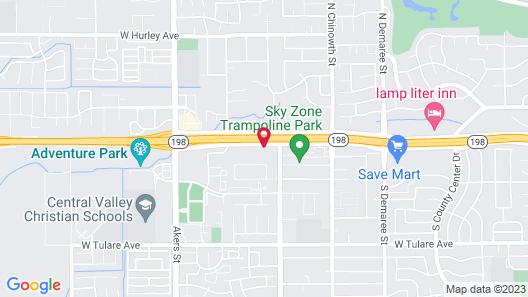 Motel 6 Visalia, CA Map