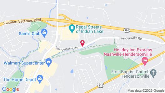 Hampton Inn & Suites Nashville Hendersonville Map