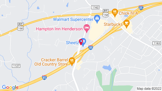 Hampton Inn Henderson I-85 Map