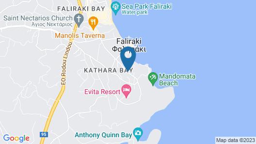 Kouros Exclusive Hotel & Suites Rhodes Map