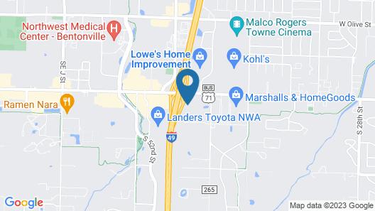 Hyatt Place Rogers/Bentonville Map