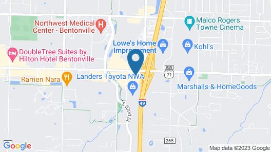 Econo Lodge Inn & Suites Bentonville - Rodgers Map