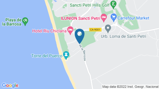 Royal Hideaway Sancti Petri, a member of Barcelo Hotel Group Map