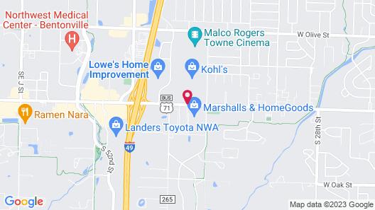 Homewood Suites by Hilton Bentonville-Rogers Map