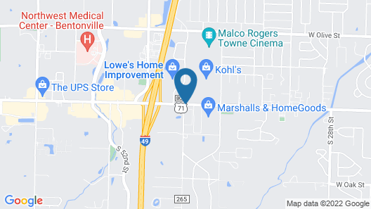 Hampton Inn Bentonville Rogers Map