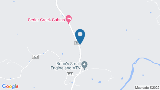European Cabin, King Bed, Giant SPA Tub, Oversized Covered Porch, Near Eureka Springs & Kings River! Map