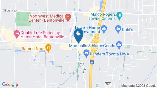 Hilton Garden Inn Bentonville Rogers Map