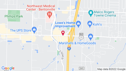 SpringHill Suites Bentonville Map