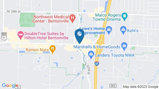 Comfort Suites Bentonville - Rogers Map