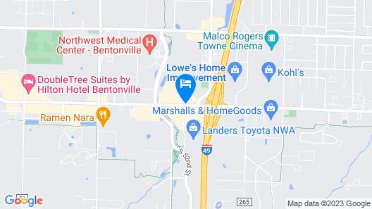 Super 8 by Wyndham Bentonville Map