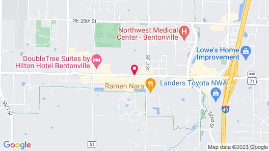 Microtel Inn & Suites by Wyndham Bentonville Map