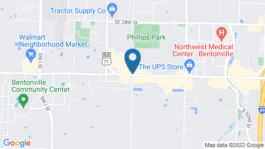 DoubleTree Suites by Hilton Bentonville Map