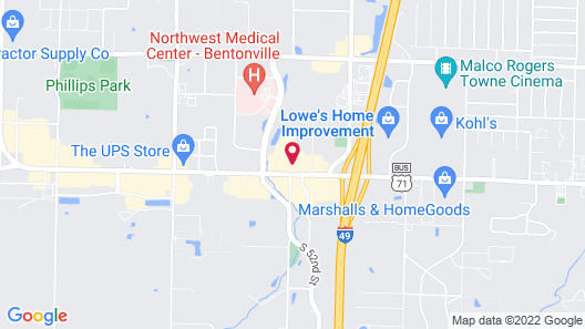 Holiday Inn Express Hotel & Suites Bentonville Map