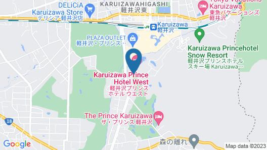 Karuizawa Prince Hotel West Map