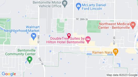 HomeTowne Studios & Suites by Red Roof Bentonville Map