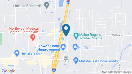 Candlewood Suites Rogers / Bentonville, an IHG Hotel Map