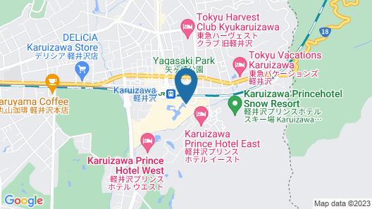 Nagano Hostel Map