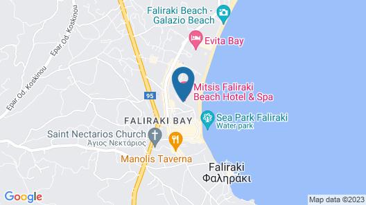 Mitsis Faliraki Beach Hotel & Spa - All Inclusive Map