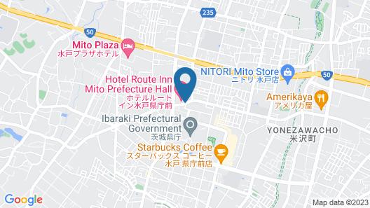 Hotel Route-Inn Mitokenchomae Map