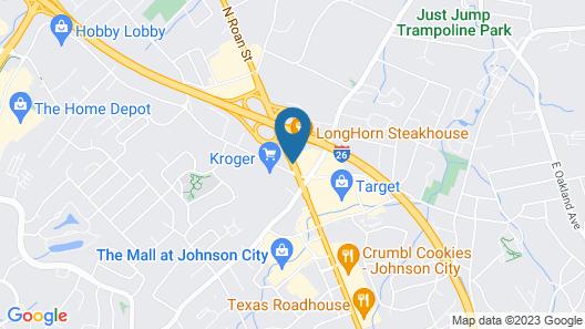Days Inn & Suites by Wyndham Johnson City Map