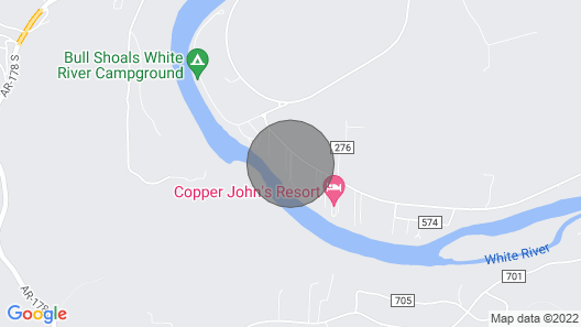 Riverside Cabin 2: White River is 110 ft Away with Riverview 1 King Bed WIFI Map