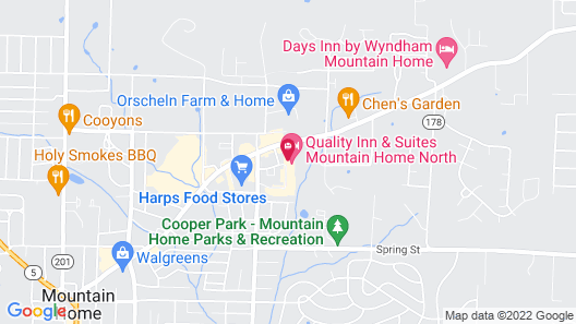 Quality Inn & Suites Mountain Home North Map
