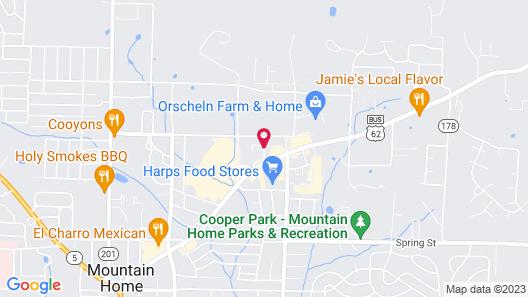 Executive Inn Of Mountain Home Map