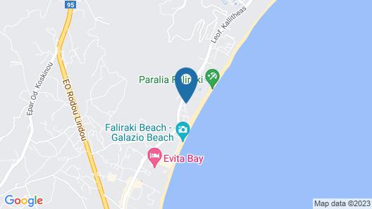 Calypso Beach Hotel Map