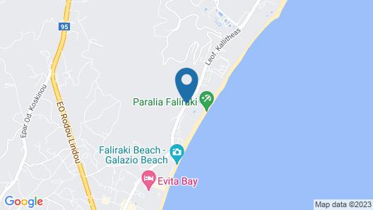 Pegasos Deluxe Beach Hotel Map