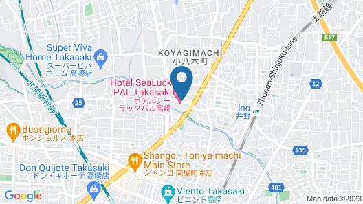 Hotel Sealuck Pal Takasaki Map