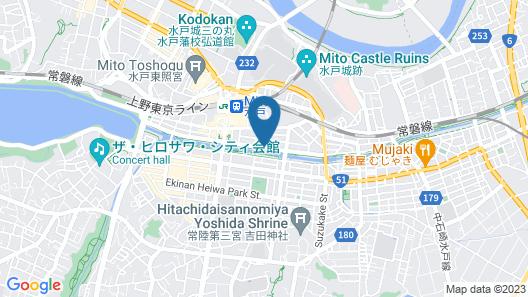 Toyoko Inn Mito-eki Minami-guchi Map