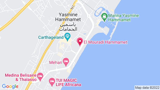 El Mouradi El Menzah Map