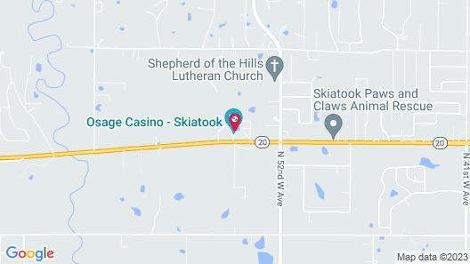 Osage Casino and Hotel - Skiatook Map