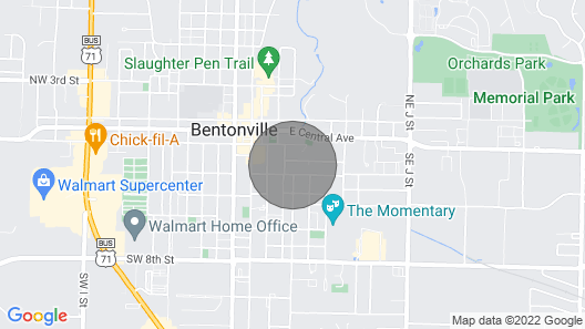 TE EY Ace Location in Downtown Bentonville Top 10 Rated Vrbo! Map