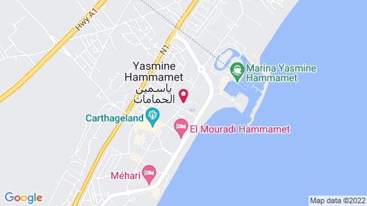 Hotel Lella Baya Thalasso Map