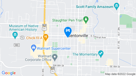 The Hepburn - Walk to Bville Square! Map
