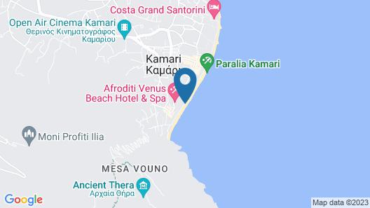 Kamari Beach Hotel Map