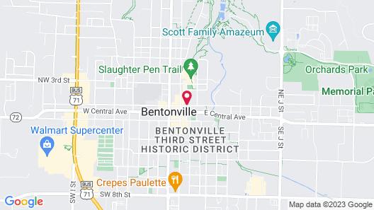21c Museum Hotel Bentonville Map