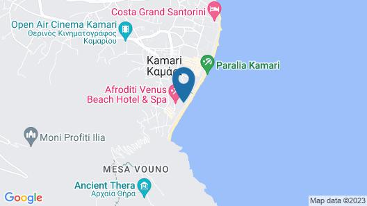 Afroditi Venus Beach Hotel & Spa Map