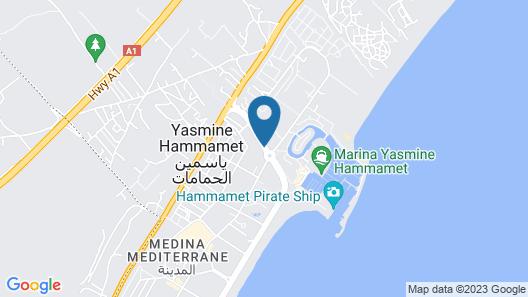 Le Corail Appart'Hotel - Yasmine hammamet Map
