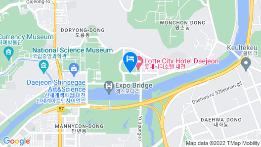 LOTTE City Hotel Daejeon Map